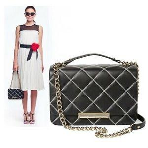 ♠️ Kate Spade Lawren Black Quilted Crossbody Bag
